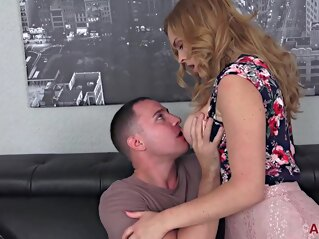 big ass Mom's new young bf big tits blonde