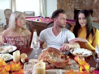 blonde MyFamilyPies-Avi Love And Paisley Bennett-Thanksgiving brunette hairy