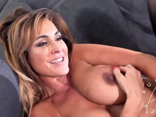 big ass Robot drills Lonely MILF hard big tits cumshot