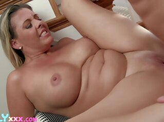 big ass awkward situation with my mom big tits blonde
