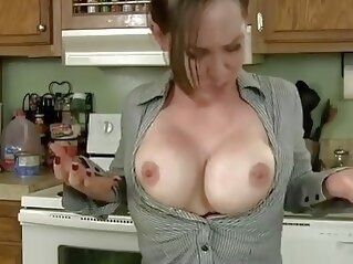 big tits Breast Expansion tits kitchen