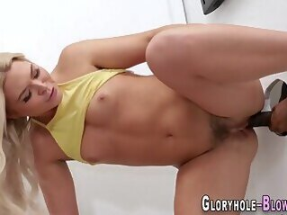hd Gloryhole blonde bangs and sucks