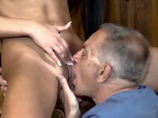 blowjob Old man fuck young girl Can you trust your gf leaving her al brunette hd